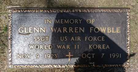 FOWBLE, GLENN WARREN - Crawford County, Ohio | GLENN WARREN FOWBLE - Ohio Gravestone Photos