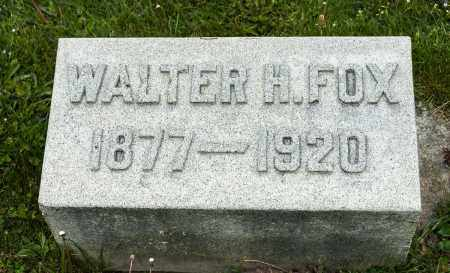 FOX, WALTER H. - Crawford County, Ohio | WALTER H. FOX - Ohio Gravestone Photos