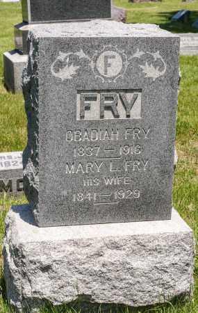 FRY, OBADIAH - Crawford County, Ohio | OBADIAH FRY - Ohio Gravestone Photos