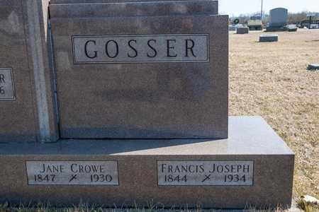 GOSSER, JANE - Crawford County, Ohio | JANE GOSSER - Ohio Gravestone Photos