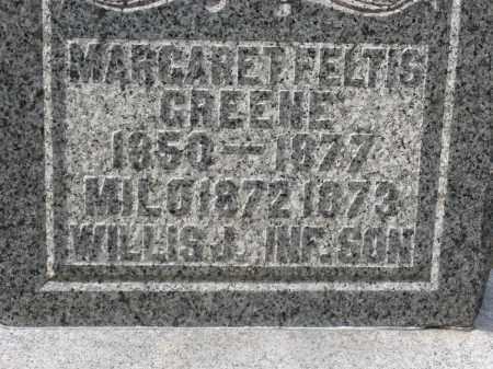 FELTIS GREENE CLOSEUP, MARGARET - Crawford County, Ohio | MARGARET FELTIS GREENE CLOSEUP - Ohio Gravestone Photos