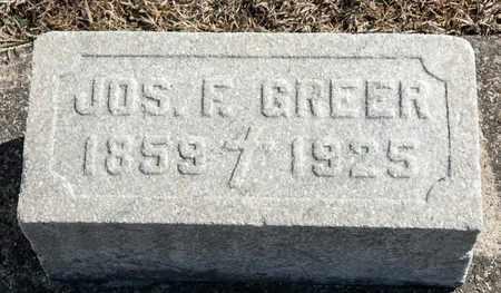 GREER, JOSEPH F - Crawford County, Ohio | JOSEPH F GREER - Ohio Gravestone Photos