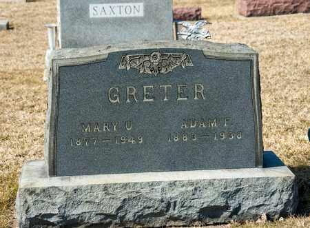 GRETER, MARY U - Crawford County, Ohio | MARY U GRETER - Ohio Gravestone Photos