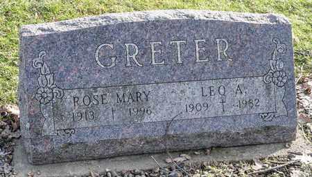 GRETER, ROSE MARY - Crawford County, Ohio | ROSE MARY GRETER - Ohio Gravestone Photos