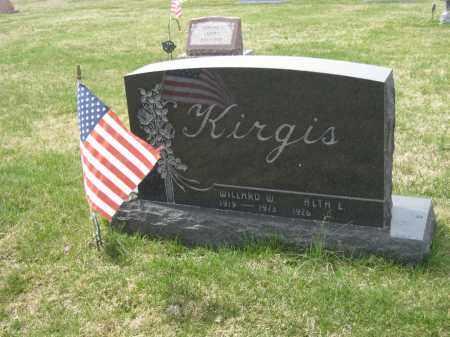 KIRGIS, WILLARD W - Crawford County, Ohio | WILLARD W KIRGIS - Ohio Gravestone Photos