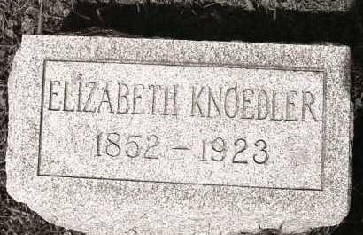 VOLK KNOEDLER, ELIZABETH - Crawford County, Ohio | ELIZABETH VOLK KNOEDLER - Ohio Gravestone Photos