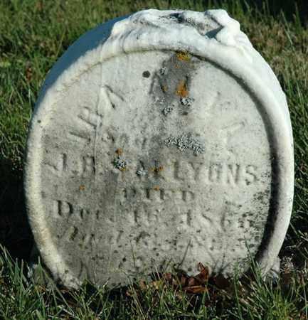 LYONS, IRA ALVA - Crawford County, Ohio | IRA ALVA LYONS - Ohio Gravestone Photos