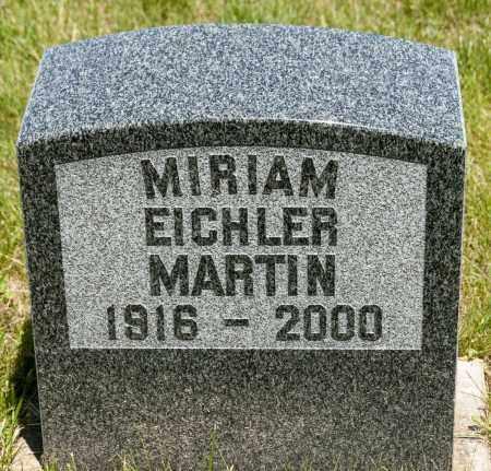 EICHLER MARTIN, MIRIAM - Crawford County, Ohio   MIRIAM EICHLER MARTIN - Ohio Gravestone Photos