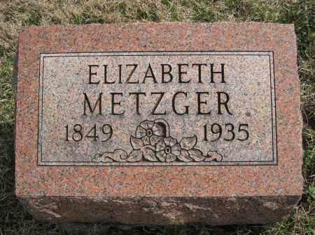 METZGER, ELIZABETH - Crawford County, Ohio | ELIZABETH METZGER - Ohio Gravestone Photos