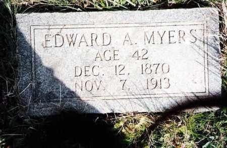 MYERS, EDWARD A. - Crawford County, Ohio | EDWARD A. MYERS - Ohio Gravestone Photos