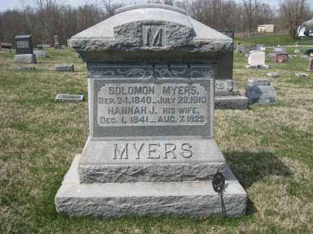 MYERS, SOLOMON - Crawford County, Ohio | SOLOMON MYERS - Ohio Gravestone Photos