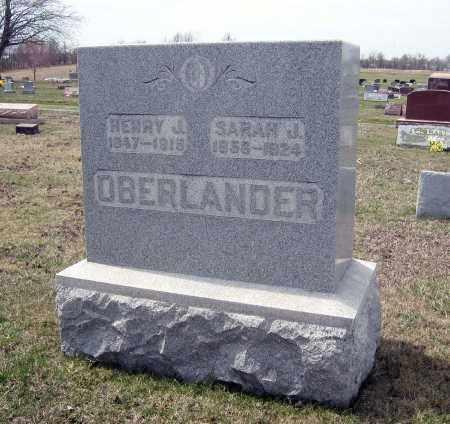 OBERLANDER, SARAH J. - Crawford County, Ohio | SARAH J. OBERLANDER - Ohio Gravestone Photos