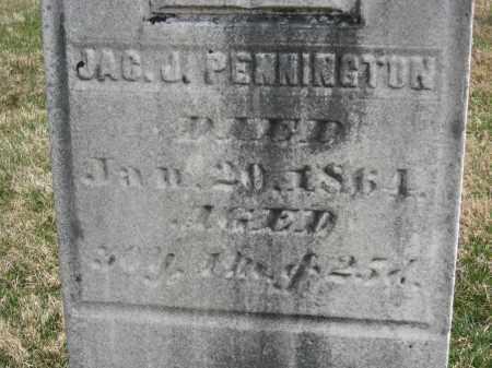 PENNINGTON CLOSEUP, JAC. J. - Crawford County, Ohio   JAC. J. PENNINGTON CLOSEUP - Ohio Gravestone Photos