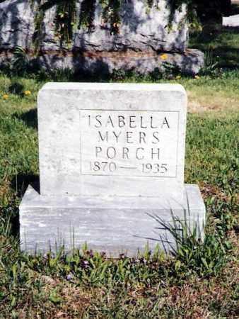 PORCH, ISABELLA - Crawford County, Ohio | ISABELLA PORCH - Ohio Gravestone Photos