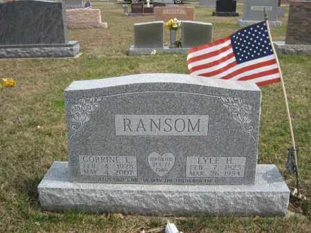 RANSOM, CORRINE E - Crawford County, Ohio | CORRINE E RANSOM - Ohio Gravestone Photos