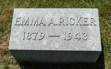 RICKER, EMMA A. - Crawford County, Ohio | EMMA A. RICKER - Ohio Gravestone Photos