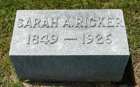 RICKER, SARAH A. - Crawford County, Ohio | SARAH A. RICKER - Ohio Gravestone Photos