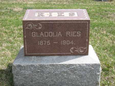 RIES MONUMENT, GLADOLIA - Crawford County, Ohio | GLADOLIA RIES MONUMENT - Ohio Gravestone Photos