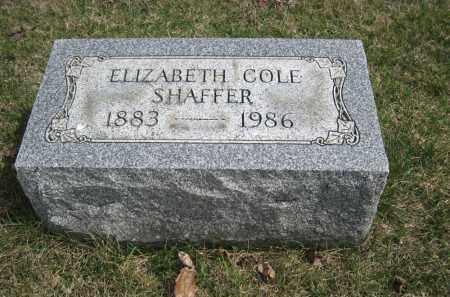COLE SHAFFER, ELIZABETH - Crawford County, Ohio   ELIZABETH COLE SHAFFER - Ohio Gravestone Photos