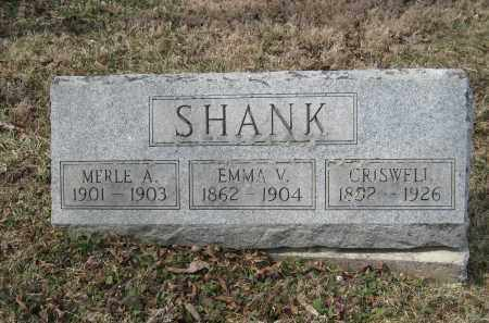 SHANK, EMMA V - Crawford County, Ohio | EMMA V SHANK - Ohio Gravestone Photos