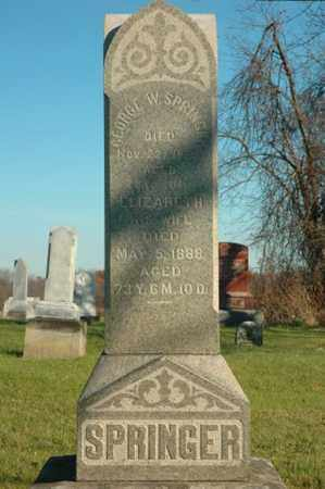 SPRINGER, ELIZABETH - Crawford County, Ohio | ELIZABETH SPRINGER - Ohio Gravestone Photos