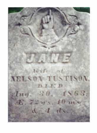 TUSTISON, JANE - Crawford County, Ohio | JANE TUSTISON - Ohio Gravestone Photos
