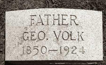VOLK, GEORGE - Crawford County, Ohio   GEORGE VOLK - Ohio Gravestone Photos
