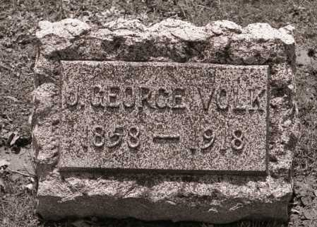 VOLK, J. GEORGE - Crawford County, Ohio | J. GEORGE VOLK - Ohio Gravestone Photos