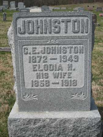 JOHNSTON, C.E. - Crawford County, Ohio | C.E. JOHNSTON - Ohio Gravestone Photos