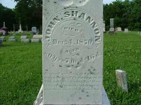 SHANNON, JOHN - Crawford County, Ohio | JOHN SHANNON - Ohio Gravestone Photos