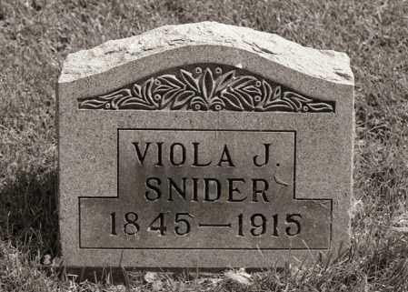 WHITE SNIDER, VIOLA J - Crawford County, Ohio | VIOLA J WHITE SNIDER - Ohio Gravestone Photos