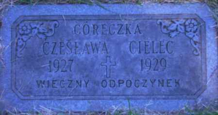 CIELEC, CZESLAWA - Cuyahoga County, Ohio | CZESLAWA CIELEC - Ohio Gravestone Photos