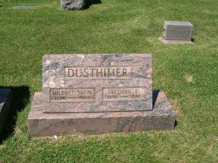 DUSTHIMER, FREEMAN A. - Cuyahoga County, Ohio | FREEMAN A. DUSTHIMER - Ohio Gravestone Photos