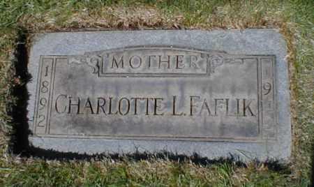 FAFLIK, CHARLOTTE LUCILLE - Cuyahoga County, Ohio | CHARLOTTE LUCILLE FAFLIK - Ohio Gravestone Photos