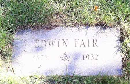 FAIR, EDWIN - Cuyahoga County, Ohio | EDWIN FAIR - Ohio Gravestone Photos