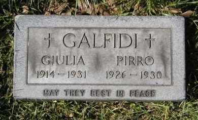 GALFIDI, PIRRO - Cuyahoga County, Ohio | PIRRO GALFIDI - Ohio Gravestone Photos