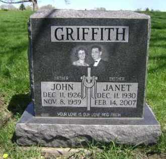 GRIFFITH, JANET - Cuyahoga County, Ohio | JANET GRIFFITH - Ohio Gravestone Photos