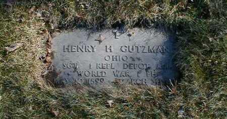 GUTZMAN, HENRY H. - Cuyahoga County, Ohio | HENRY H. GUTZMAN - Ohio Gravestone Photos
