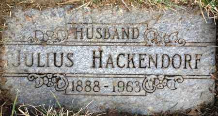 HACKENDORF, JULIUS - Cuyahoga County, Ohio | JULIUS HACKENDORF - Ohio Gravestone Photos