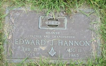 HANNON, EDWARD JAMES - Cuyahoga County, Ohio | EDWARD JAMES HANNON - Ohio Gravestone Photos