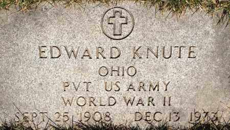 KNUTE, EDWARD - Cuyahoga County, Ohio | EDWARD KNUTE - Ohio Gravestone Photos