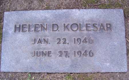 KOLESAR, HELEN DIANE - Cuyahoga County, Ohio   HELEN DIANE KOLESAR - Ohio Gravestone Photos