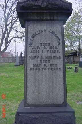 MANNING, (REV) WILLIAM J. MANNING - Cuyahoga County, Ohio   (REV) WILLIAM J. MANNING MANNING - Ohio Gravestone Photos