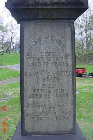 MANNING O'BRIEN, JANE (JENNIE) - Cuyahoga County, Ohio | JANE (JENNIE) MANNING O'BRIEN - Ohio Gravestone Photos