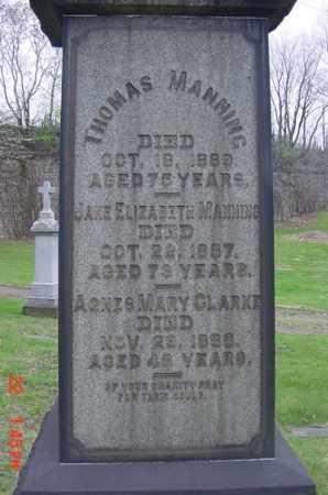 MANNING, JANE ELIZABETH - Cuyahoga County, Ohio | JANE ELIZABETH MANNING - Ohio Gravestone Photos