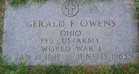 OWENS, GERALD FLETCHER - Cuyahoga County, Ohio | GERALD FLETCHER OWENS - Ohio Gravestone Photos