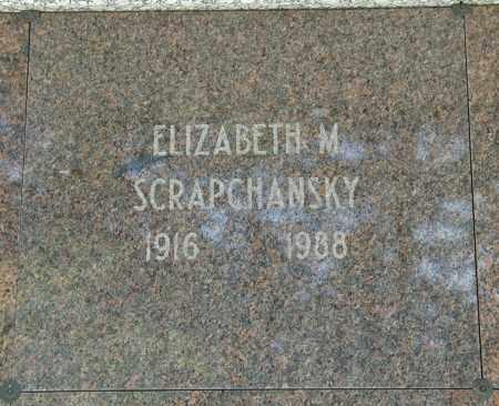 SCRAPSCHANSKY, ELIZABETH M. - Cuyahoga County, Ohio   ELIZABETH M. SCRAPSCHANSKY - Ohio Gravestone Photos