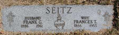 ADAMS SEITZ, FRANCES T. - Cuyahoga County, Ohio | FRANCES T. ADAMS SEITZ - Ohio Gravestone Photos