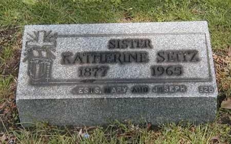 SEITZ, KATHERINE - Cuyahoga County, Ohio | KATHERINE SEITZ - Ohio Gravestone Photos