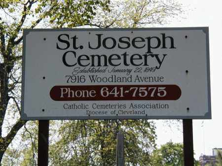 ST JOSEPH, CEMETERY SIGN - Cuyahoga County, Ohio | CEMETERY SIGN ST JOSEPH - Ohio Gravestone Photos